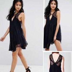NWT! Free People Don't You Dare Lurex Mini Dress.